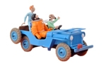 Blue Willys Jeep from