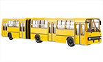 Ikarus-280.64 articulated bus, wide doors