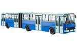 Ikarus-280.64 articulated bus, wide doors, BKV Budapest 1973
