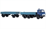 KAMAZ-5320 flatbed truck with trailer GKB-8350