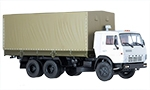 KamAZ-53212 flatbed truck with tent
