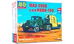 MAZ-200V with trailer NAMI-790. Die-cast Model Kit