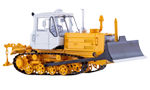 Caterpillar tractor T-150 with plow