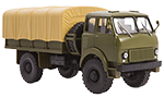 MAZ-505 flatbed truck with tent