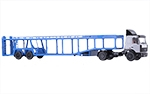MAZ-5432 tractor truck+MAZ-934410 car transport trailer (A908)