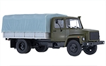 GAZ-3309 flatbed truck with tent