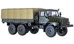 Ural-4322. 1987  flatbed truck with tent