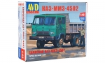 KAZ-MMZ-4502 dump truck. Die-cast Model Kit
