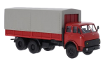 MAZ-516B, flatbed truck with tent