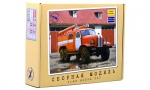 ZIL-157K (PMZ-27) Fire Truck. Die-cast Model Kit